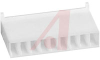 Connector; Nylon; Receptacle; 9; White;Crimp; 180 deg; 0.1 in.; UL 94V-0 -- 70083806