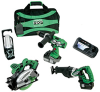Hitachi HXP 18-Volt Lithium-Ion Cordless 4-Tool Combo Kit -- Model KC18DBL