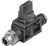 HE-3-1/4-QS-1/4-U Shut-off valve -- 153986
