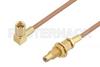 SSMC Plug Right Angle to SSMC Jack Bulkhead Cable 60 Inch Length Using RG178 Coax -- PE3C4458-60 -Image