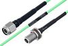 Temperature Conditioned TNC Male to N Female Bulkhead Low Loss Cable 100 cm Length Using PE-P160LL Coax -- PE3M0208-100CM -Image