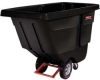RUBBERMAID 1/2 Cu. Ft. Tilt Truck, Utility Duty -- Model# FG130400 BLA