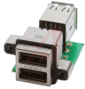 connector,usb receptacle,type a,stacked-2 port,right angle,pcb mount w/usb term -- 70144961 - Image