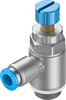 GRLA-3/8-QS-8-RS-D One-way flow control valve -- 534342