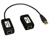 1-Port USB 1.1 over Cat5/Cat6 Extender, Transmitter and Receiver, up to 150-ft