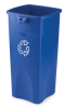 23 Gallon Rubbermaid® Container w/Recycle Symbol 16-1/2