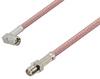 SMA Male Right Angle to Reverse Polarity SMA Female Cable 12 Inch Length Using RG142 Coax -- PE3W03763-12 -Image