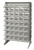 Bins & Systems - Clear-View Bins - Economy Shelf Bins - Sloped Shelving - Double Sided Pick Racks - QPRD-102CL - Image