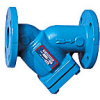 Cast Iron, Class 125 Flanged End, Wye-Pattern Strainer with FDA Epoxy Coating -- 77F-DI-FDA-125