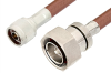 N Male to 7/16 DIN Male Cable 72 Inch Length Using RG393 Coax, RoHS -- PE34357LF-72 -Image