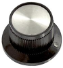STRAIGHT KNURLED KNOB WITH IND, 6.35MM -- 57F2335