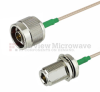 N Male to N Female Bulkhead Cable RG-316 Coax in 36 Inch and RoHS Compliant -- FMC0111315LF-36 -Image