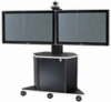 Video Furniture Int'l Package D - Dual Monitor Mount and Monitor Cart for 32