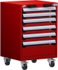 Heavy-Duty Mobile Cabinet, with Partitions -- R5BCD-3051 -Image