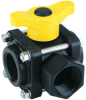 Banjo 3-Way Polypropylene Side Load Ball Valves -- 31267