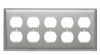 Duplex Receptacle Openings, Five Gang -- SS85 - Image