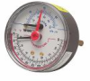 Leade Free* Combination Pressure and Temperature Gauge, Center Back-Entry -- LFDPTG-3
