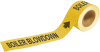 Brady Pipe Markers-To-Go B-736 Yellow Plastic Self-Adhesive Pipe Marker - 1 in Height - 8 in Length - Printed Msg = BOILER BLOWDOWN - 20403 -- 754473-20403