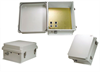14x12x7 Inch Weatherproof Enclosure with 802.3af compatible PoE Interface w/Cat 5 Surge Protection -- NB141207-400 -Image