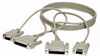 PC Data-Transfer Cable, Universal Serial (DB25 Female/DB9 Female to DB25 Female/DB9 Female), 10-ft. (3.0-m) -- BC018002