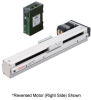 Linear Actuator (Slide) - Reversed Motor (Left Side), X-axis Table with Built-in Controller (Stored Data) -- EAS4LX-E030-ARAKD-3 -Image