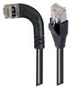 Category 5E Shielded Right Angle Patch Cable, Right Angle Left/Straight, Black 3.0 ft -- TRD815SRA6BLK-3 -- View Larger Image