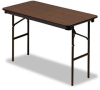 Wood Laminate Folding Table, Rectangular, 48w x 24d, Walnut -- ICE55304