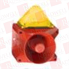 PFANNENBERG 23372803000 ( 15 JOULES FLASHING STROBE BEACON WITH 80 TONE, 4-STAGE SOUNDER, 120 DB (A), 18 - 30 VDC, RED HOUSING, YELLOW LENS ) -- View Larger Image
