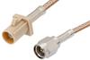 SMA Male to Beige FAKRA Plug Cable 24 Inch Length Using RG316 Coax -- PE39343I-24 -Image