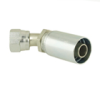 Industrial Hydraulic Crimp Fitting – 58 Series Female JIC 37D Swivel 45D Elbow -- 13758-10-10