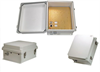 14x12x7 Inch 48VDC PoE Powered Weatherproof & Insulated Enclosure with Heating System -- NB141207-4H0N