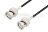 BNC Male to BNC Male Cable 144 Inch Length Using RG174 Coax, LF Solder, RoHS -- PE3C2295LF-144 -Image