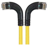 Category 6 Right Angle RJ45 Ethernet Patch Cords - RA (Left) to RA (Right) - Yellow, 15.0Ft -- TRD695RA8Y-15 -Image