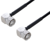 Fire Rated 4.3-10 Male Right Angle to 4.3-10 Male Right Angle Low PIM Cable 200 cm Length Using SPF-250 Coax Using Times Microwave Parts -- PE3C6354-200CM -- View Larger Image