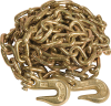 3/8 in. x 16 ft Grade 70 Transport Chain with Grab Hooks -- 8259525