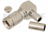 1.0/2.3 Plug Right Angle Connector Crimp/Solder Attachment For RG55, RG142, RG223, RG400 -- PE44247 - Image
