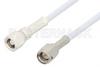 SMA Male to SMC Plug Cable 24 Inch Length Using RG188-DS Coax, RoHS -- PE34458LF-24 -Image
