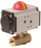 Pneumatically Actuated Brass Ball Valve -- PHG - AP Series -Image