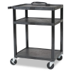 All Service Cart, 3-Shelf, 24w x 18d x 16h, Black -- 27529
