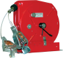 Grounding Reel For Electo-Static Discharge, 20 ft of Steel Cable with Orange Jacket and Dual