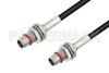 Slide-On BMA Plug Bulkhead to Slide-On BMA Plug Bulkhead Cable 24 Inch Length Using LMR-100 Coax -- PE3C4921-24 -Image