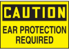 Caution Ear Protection Required Hazard Warning Label -- SGN425 -Image