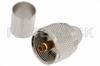 UHF Male Connector Crimp/Solder Attachment for RG214, RG9, RG225, RG393 -- PE44051 -Image