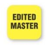 Fluorescent Yellow Edited Master Tape Label