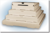 Corrugated Pizza Boxes - Plain -- PBOX-116