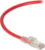 10FT Red CAT6A 650MHz Patch Cable F/UTP CM Locking Snagless -- C6APC80S-RD-10 - Image