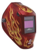 Welding Helmet,Dig Performance,Red Flame -- 34C376