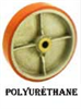 PU Series Polyurethane Tire Wheels -- pu-420-rb