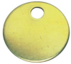 Cable Tie Marker Disc 1 Hole Brass -- 07498333628-1