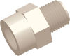 Commercial Grade Thread-Thread Straight Connector Male-Male -- AP03227FN227F -- View Larger Image